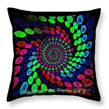 Blacklight6 Throw Pillow