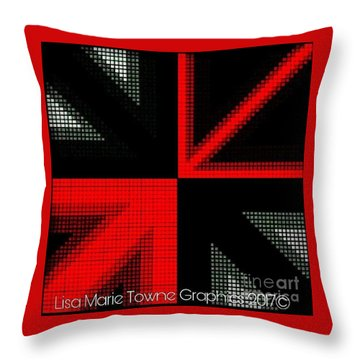 Blackred1 Throw Pillow