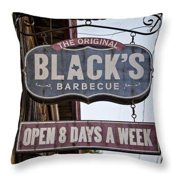 Blacks Barbecue #1 Throw Pillow