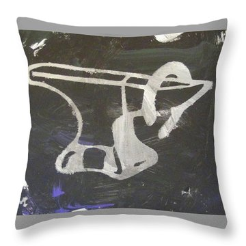 Throw Pillow featuring the painting Blacksmith's Buddy by Candace Shrope