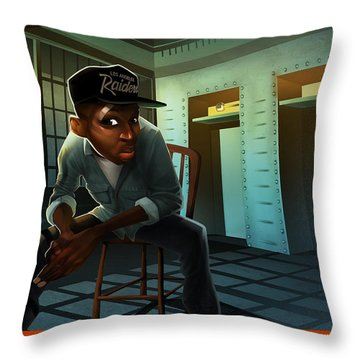 Blacksteel In The Hour Of Chaos Throw Pillow by Nelson  Dedos Garcia