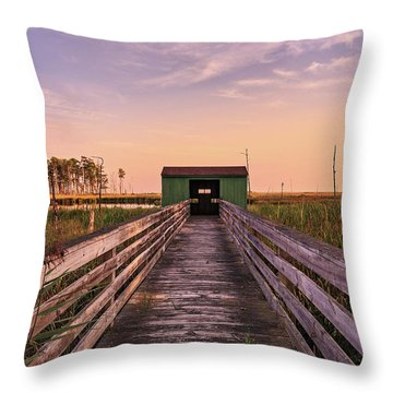 Blackwater Blind Throw Pillow by Jennifer Casey
