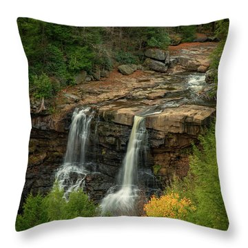 Throw Pillow featuring the photograph Blackwater Falls by David Waldrop