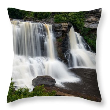 Blackwater Falls State Park West Virginia Throw Pillow