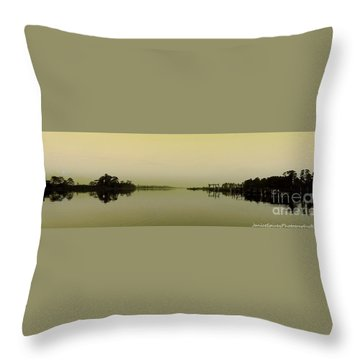 Throw Pillow featuring the photograph Blackwater Morning by Janice Spivey