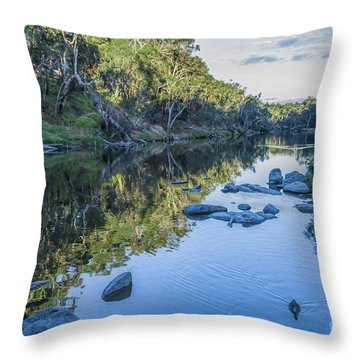Blackwood River Rocks, Bridgetown, Western Australia Throw Pillow