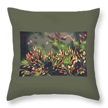 Bladderwort  Throw Pillow