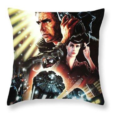 Blade Runner 4 Throw Pillow