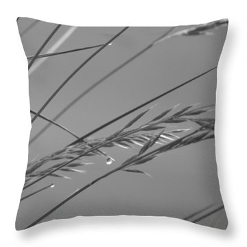 Blades Of Gray Throw Pillow