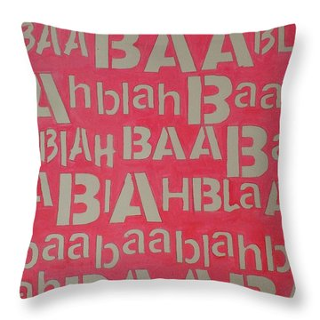 Blah Blah Baa Throw Pillow