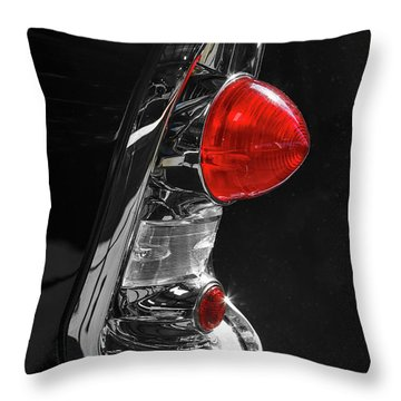 Throw Pillow featuring the photograph Black '56 by Dennis Hedberg