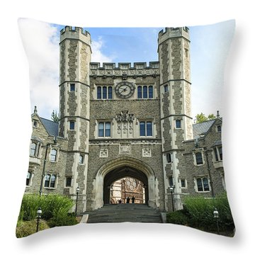 Blair Hall Princeton Throw Pillow by John Greim