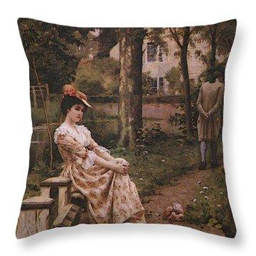 Blair Leighton Off Throw Pillow