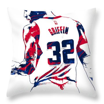 Blake Griffin Los Angeles Clippers Pixel Art 4 Throw Pillow