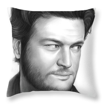 Blake Shelton Throw Pillow