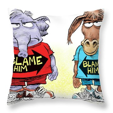 Blame Him Throw Pillow