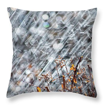 Blame It On The Rain Throw Pillow