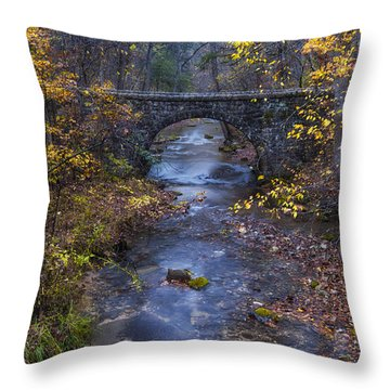 Blanchard Stone Bridge Throw Pillow