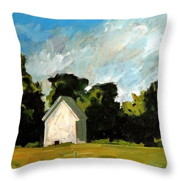 Throw Pillow featuring the painting Blanco Y Verde by Charlie Spear
