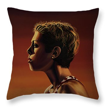Blanka Vlasic Painting Throw Pillow by Paul Meijering