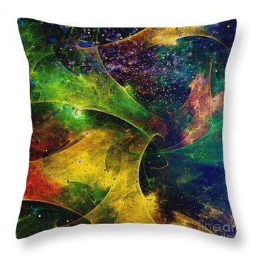 Throw Pillow featuring the digital art Blanket Of Stars by Klara Acel