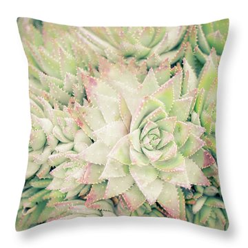 Blanket Of Succulents Throw Pillow