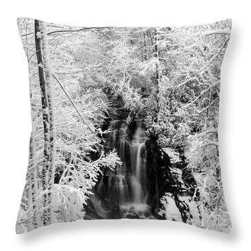Blanket Of White Throw Pillow