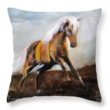 Blanket The War Pony Throw Pillow