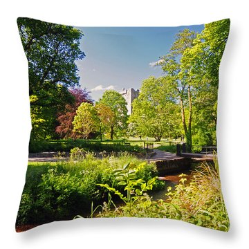Blarney Castle And Grounds  Throw Pillow