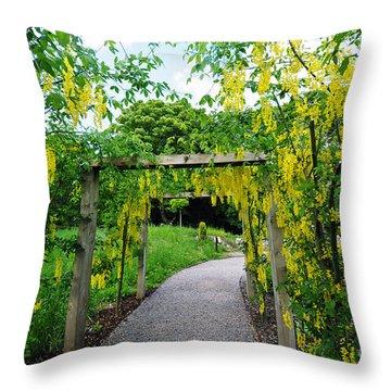 Blarney Castle Gardens Throw Pillow