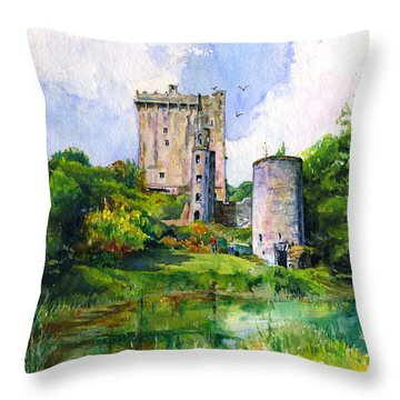Blarney Castle Landscape Throw Pillow