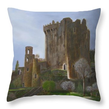 Blarney Castle Throw Pillow by LaVonne Hand