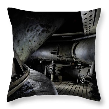 Throw Pillow featuring the photograph Blast Furnace Piping by Dirk Ercken