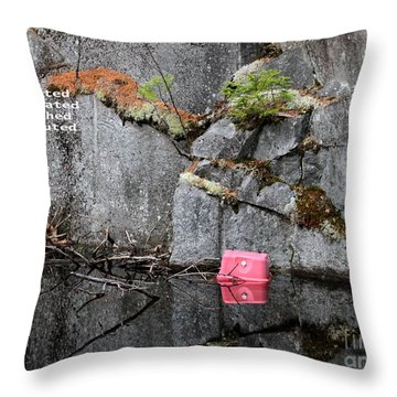 Blasted And Trashed Throw Pillow