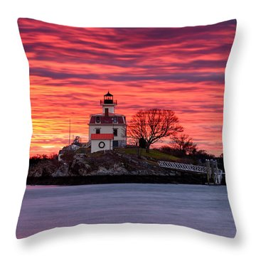 Rock Ablaze Throw Pillow