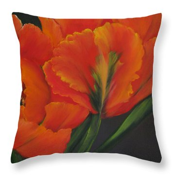 Blaze Of Glory Throw Pillow by Carol Sweetwood