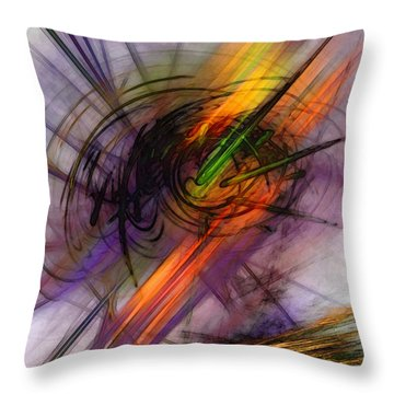 Blazing Abstract Art Throw Pillow