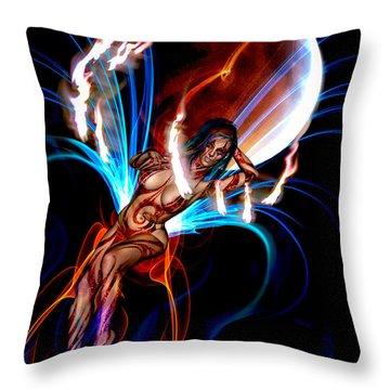 Blazing Eclipse Throw Pillow