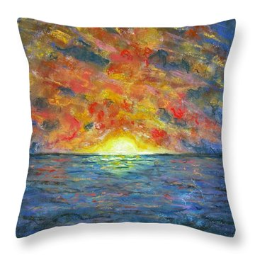 Blazing Glory Throw Pillow by Laurie Morgan