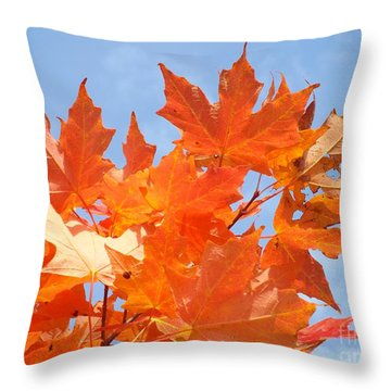 Blazing Maple Throw Pillow