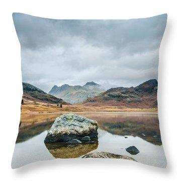 Blea Tarn In Cumbria Throw Pillow