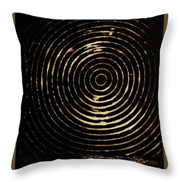 Throw Pillow featuring the photograph Bleached Circles by Cynthia Powell