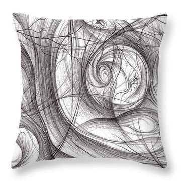 Bleak Migration Throw Pillow