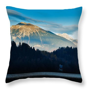Bled Castle Throw Pillow