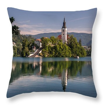 Throw Pillow featuring the photograph Bled by Davorin Mance