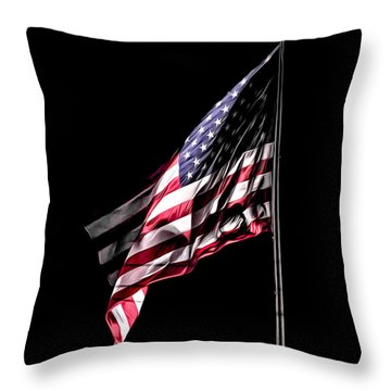 Bleeding Flag Throw Pillow by Terry Cosgrave