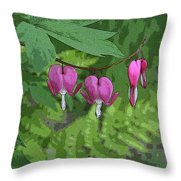 Bleeding Hearts 2 Throw Pillow