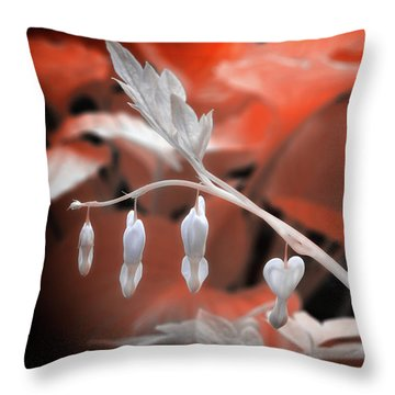 Bleeding Hearts Throw Pillow by Paul Seymour