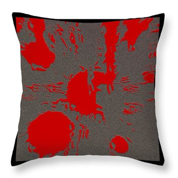 Bleeding On The Floor Throw Pillow