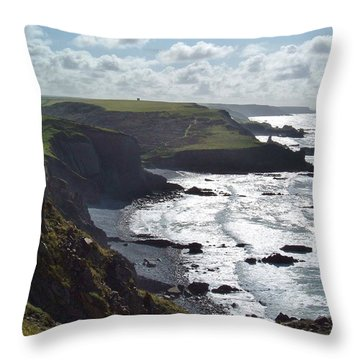 Blegberry Cliffs From Damehole Point Throw Pillow
